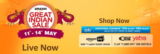 Amazon Great Indian Sale Day 1 - Best Deals