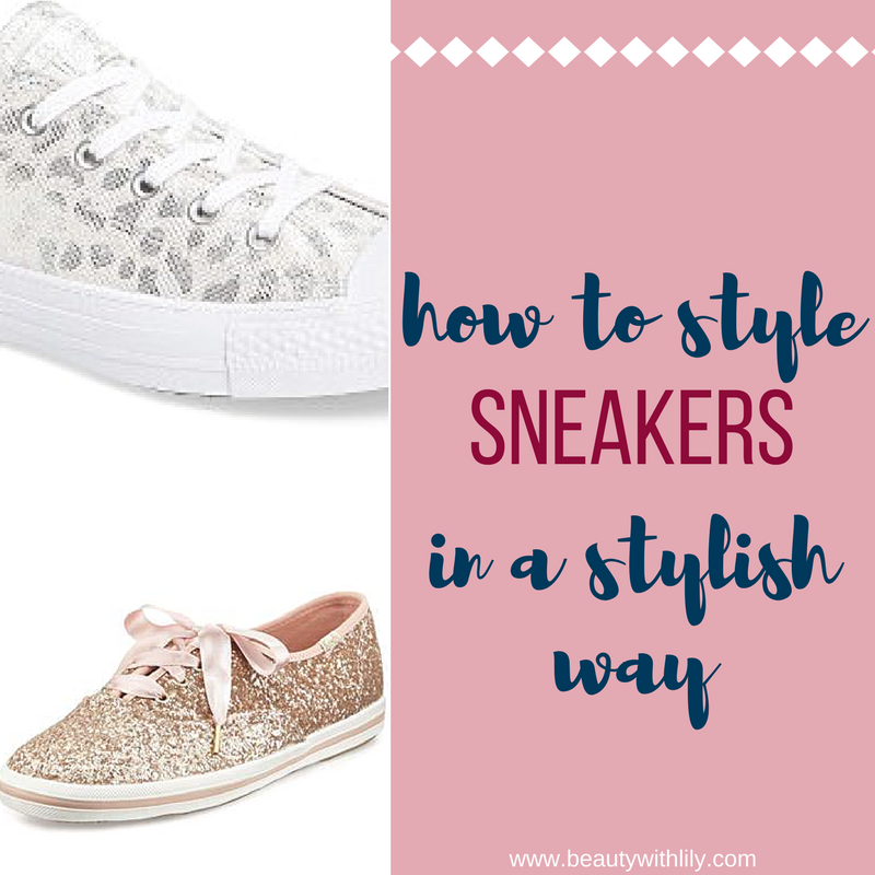 How To Style Sneakers In a Stylish Way // Styling Sneakers // Sneaker Trend | beautywithlily.com