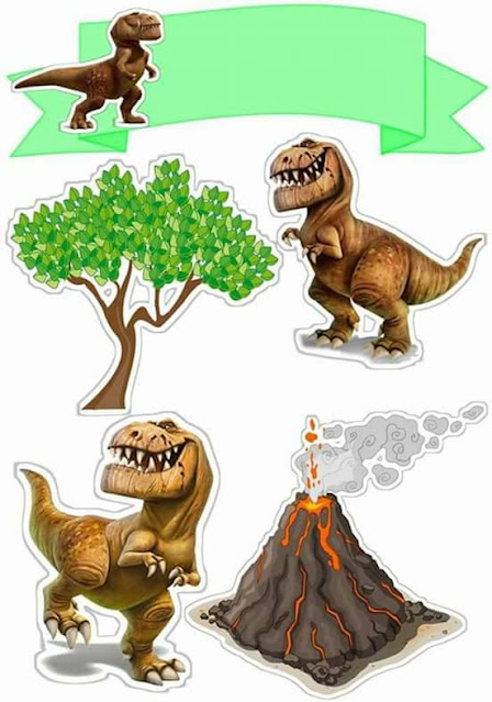 The Good Dinosaur: Free Printable Cake Toppers.