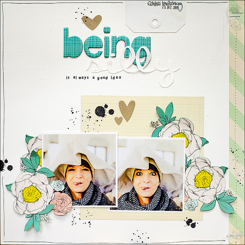Stephanie Berger - Scrapbooking Layout - StuckSketches - Being Silly