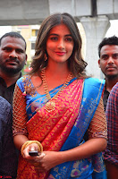 Puja Hegde looks stunning in Red saree at launch of Anutex shopping mall ~ Celebrities Galleries 101.JPG