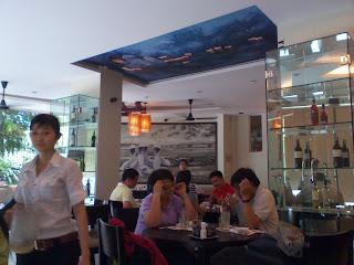 Lun. Hue restaurant dans le District 3 de Saigon. Bun bo Hue le style spécial
