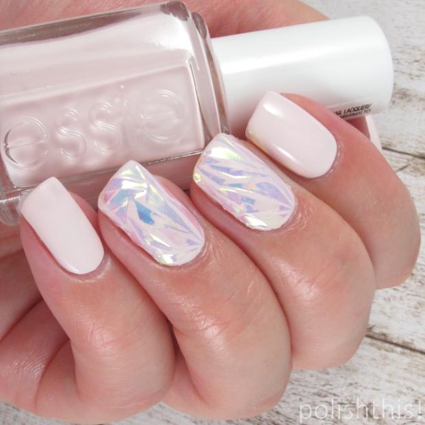 shattered glass nail art - polish