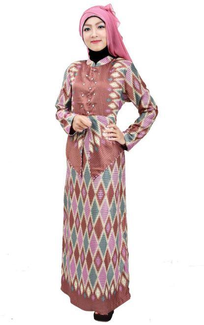 10 Model Gamis Batik Untuk Pesta Terbaru 2018