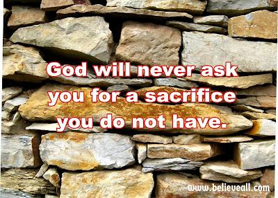 5 Conditions For Acceptable Sacrifice