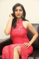 Sakshi Kakkar in Red Legsplit Sleeveless Gown at Dare movie Press meet ~  Exclusive 086.JPG