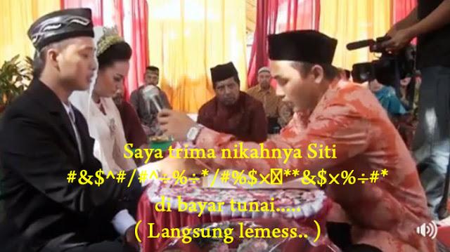 Video Akad Nikah Dengar Saat Lelaki Ucap Mas Kawin Langsung Lemes