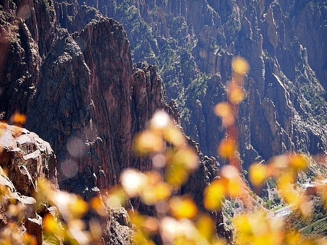 Magnificent Rocky Cliff from Top at Black Canyon Of Gunnison National Park