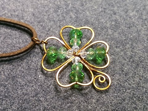 Four Leaf Clover Wire Work Pendant Tutorial The Beading