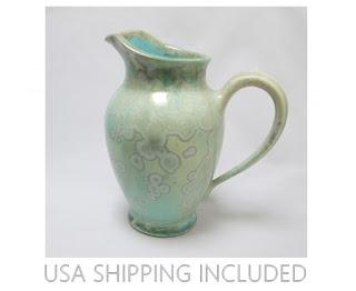 Crystalline Glaze Pitcher by Edgecombe Potters Maine