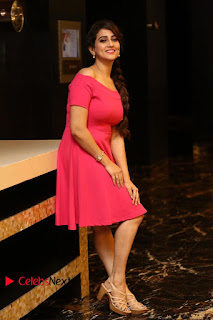 Actress Anchor Manjusha Latest Pictures in Pink Short Dress  0208.JPG