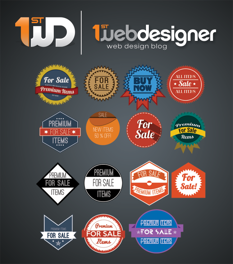 15 Beautiful PSD Badges