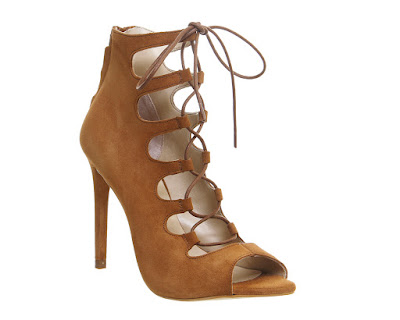 Office Parisian Lace Up Ghillie Sandal