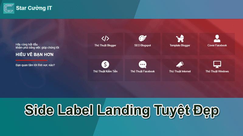 Tạo side Label Landing Mượt, Tuyệt Đẹp