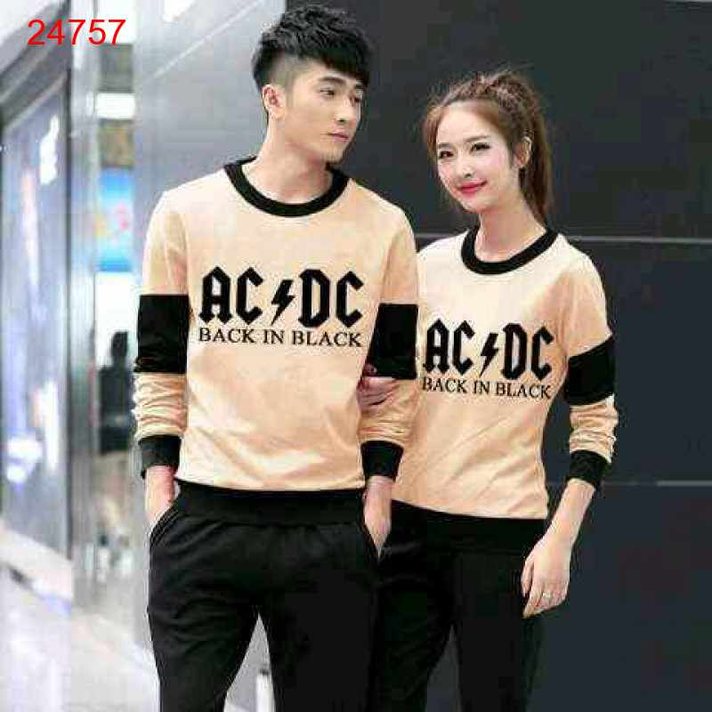 Jual Sweater Couple Sweater ACDC Mocha Black - 24757