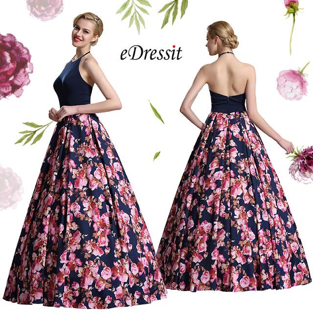 Cette jolie robe présente les jolis détails du corsage avec un motif floral  sur le décolleté illusion haut et belle qui rend cette robe élégante plus  ... f0b6f790747