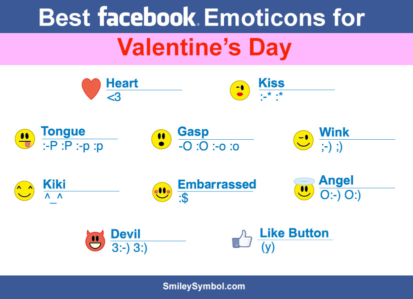 Facebook Valentine Emoticons