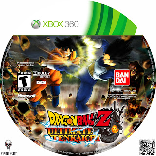 Label Dragon Ball Z Ultimate Tenkaichi Xbox 360