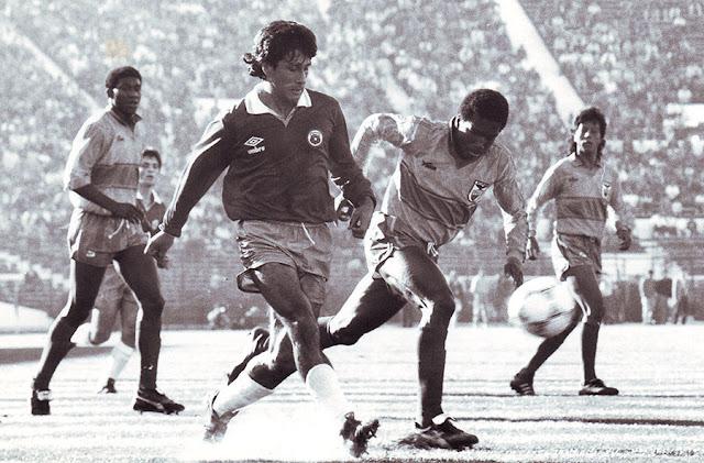 Chile y Ecuador en partido amistoso, 30 de junio de 1991