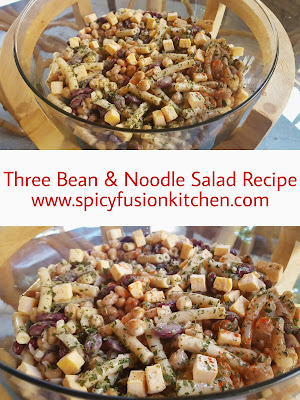 three bean salad, three bean and noodle salad, salad, side dish, bbq, braai, recipe, cold salad, salad recipe, colourful food, salad pictures, three bean salad pictures, noodles, noodle salad, noodle salad pictures, pinterest, food, food blog, food blogger