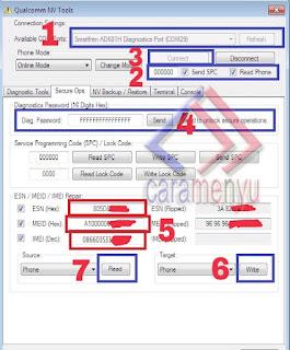 Cara Repair MEID / IMEI Null All Andromax QUALCOMM Dengan Efs Profesional