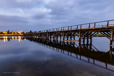 Copyright Vernon Chalmers: Wooden Bridge Before Sunrise - Woodbridge Island Cape Town