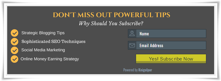 email subscribe widget demo