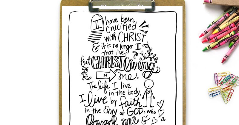 My Not Enough Manifesto Crucified With Christ Printable