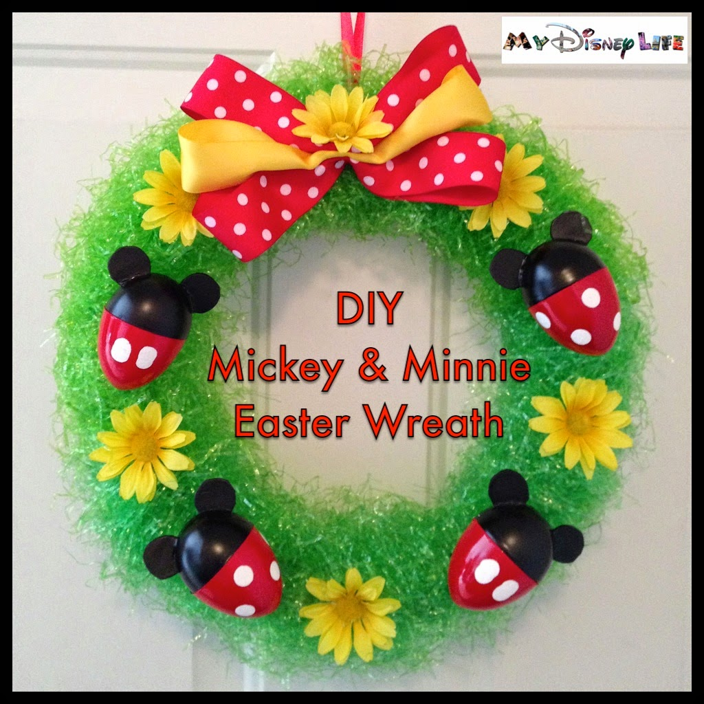 My Disney Life: DIY Project: Mickey and Minnie Easter Wreath