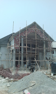 eco bricks installed on top of a duplex in Nigeria