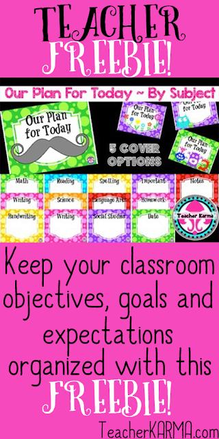 Classroom standard FREE TeacherKARMA.com