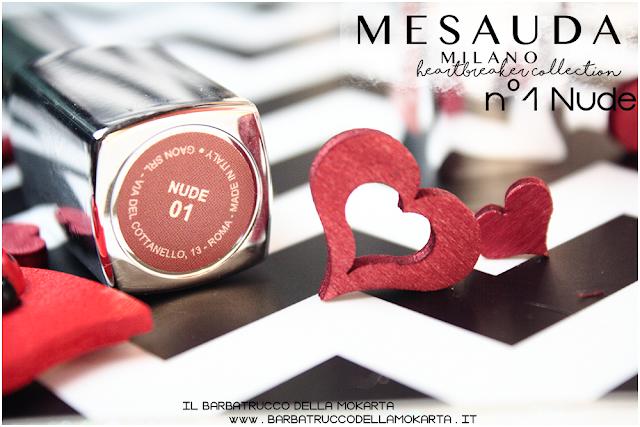 01 Nude opinioni heartbreaker lipstick rossetto matt , matt lipstick mesauda