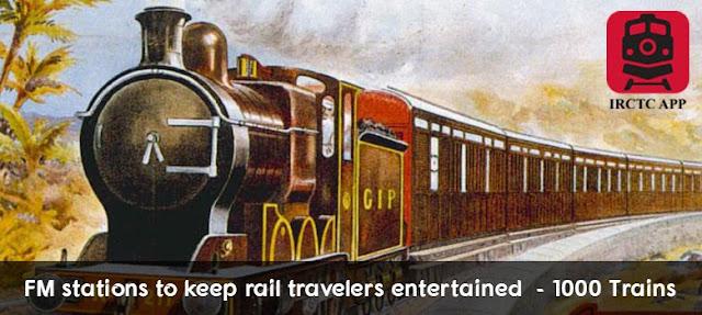 FM trains, Radio FM Express trains, indian railways pnr, Indian Railways train status, irctc, Rail Ticket Booking App
