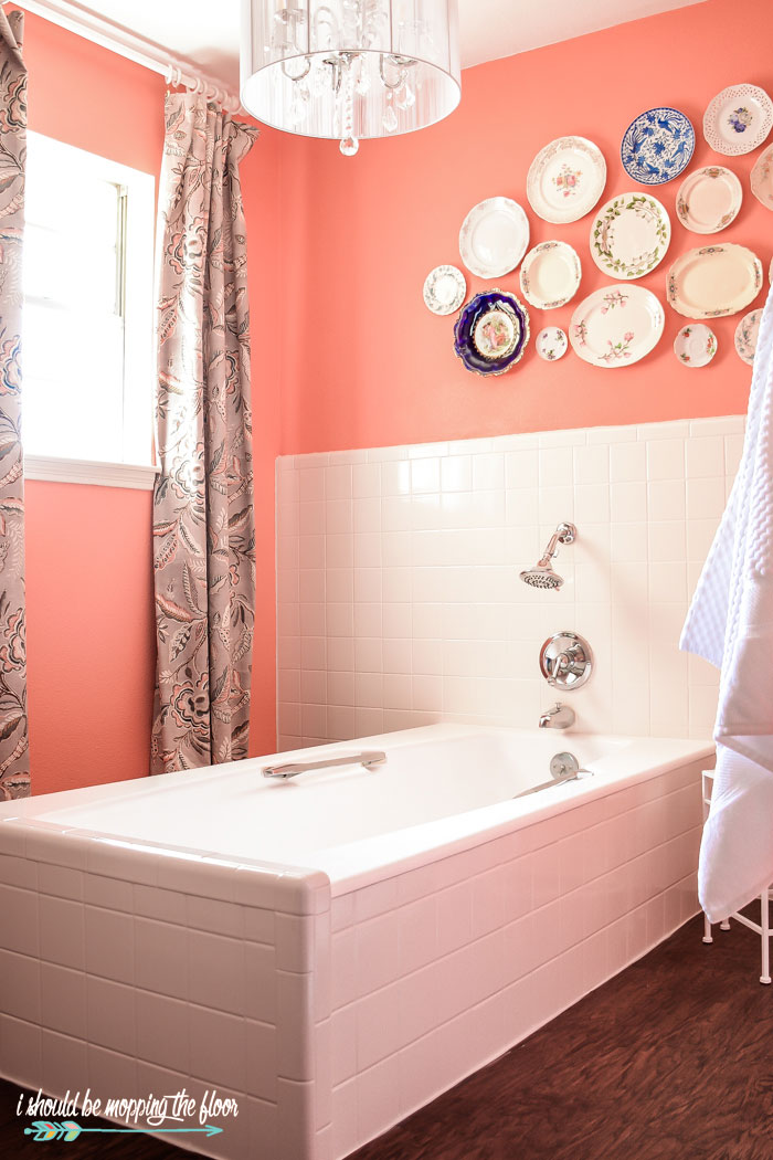 Vintage Coral Bathroom