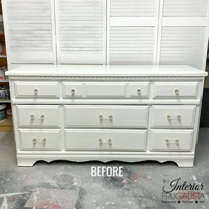 Vintage Farmhouse Dresser Makeover Before