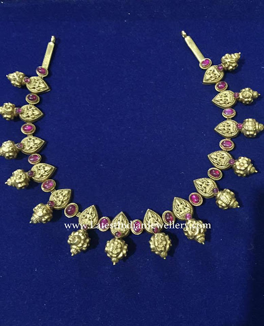Lakshmi Necklace with Nakshi Balls