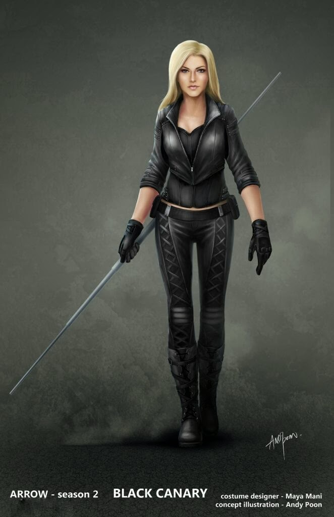 arrow black canary cosplay Green