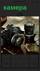 460 слов 4 на столе стоит камера и объектив к ней 13 уровень