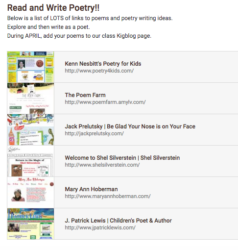 Poetry writing website