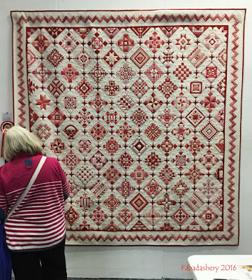 'Nearly Insane Quilt', Frances Meredith Best Traditional Patchwork, Best Bed Quilt, Visitors Choice West Country Quilt Show 2016