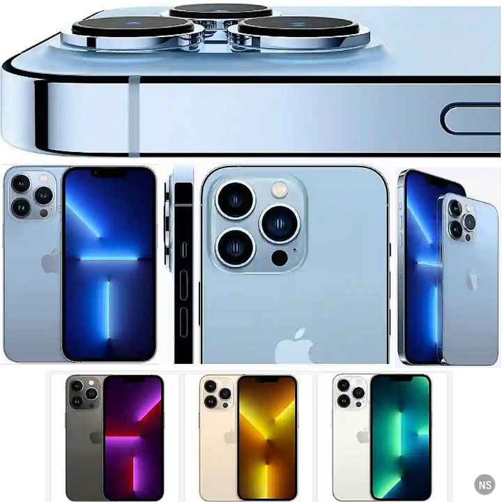 IPhone 13 Pro Max Smartphone - Specs 5G Network, iOS 15, 6.7Inch ProMotion Screen, IP68 Water Resistant, A15 Bionic Chip, Up to 1TB ROM, 6GB RAM, Wireless Charging, FaceID Security..