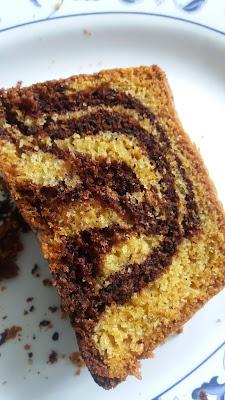 Gâteau marbré au chocolat et vanille; un délice !