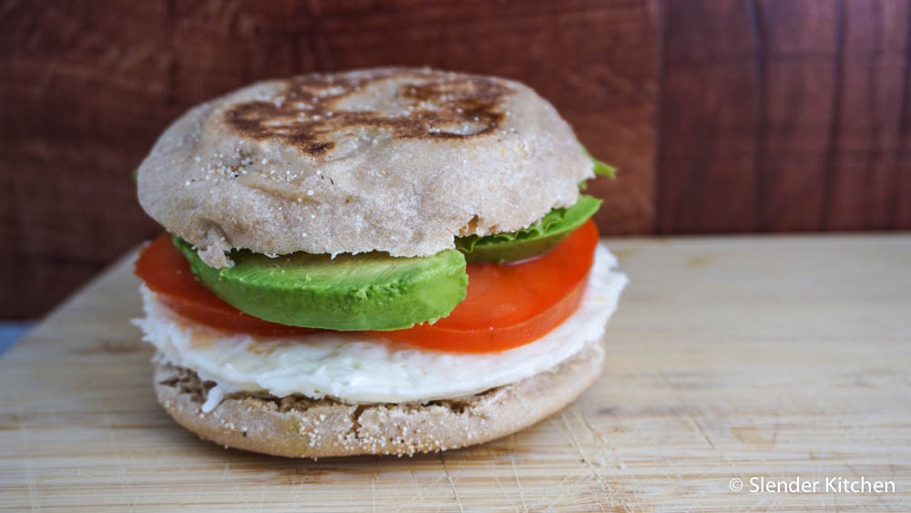 Egg White, Tomato, & Avocado Sandwich