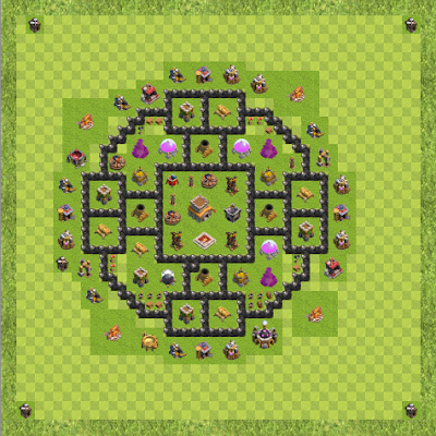 War Base Town Hall Level 8 By VexyDaKid (Wasr TH 8 Layout)