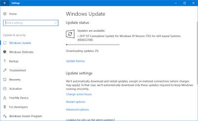 Cumulative Update KB4032188 for Windows 10 v1703 Build 15063.502