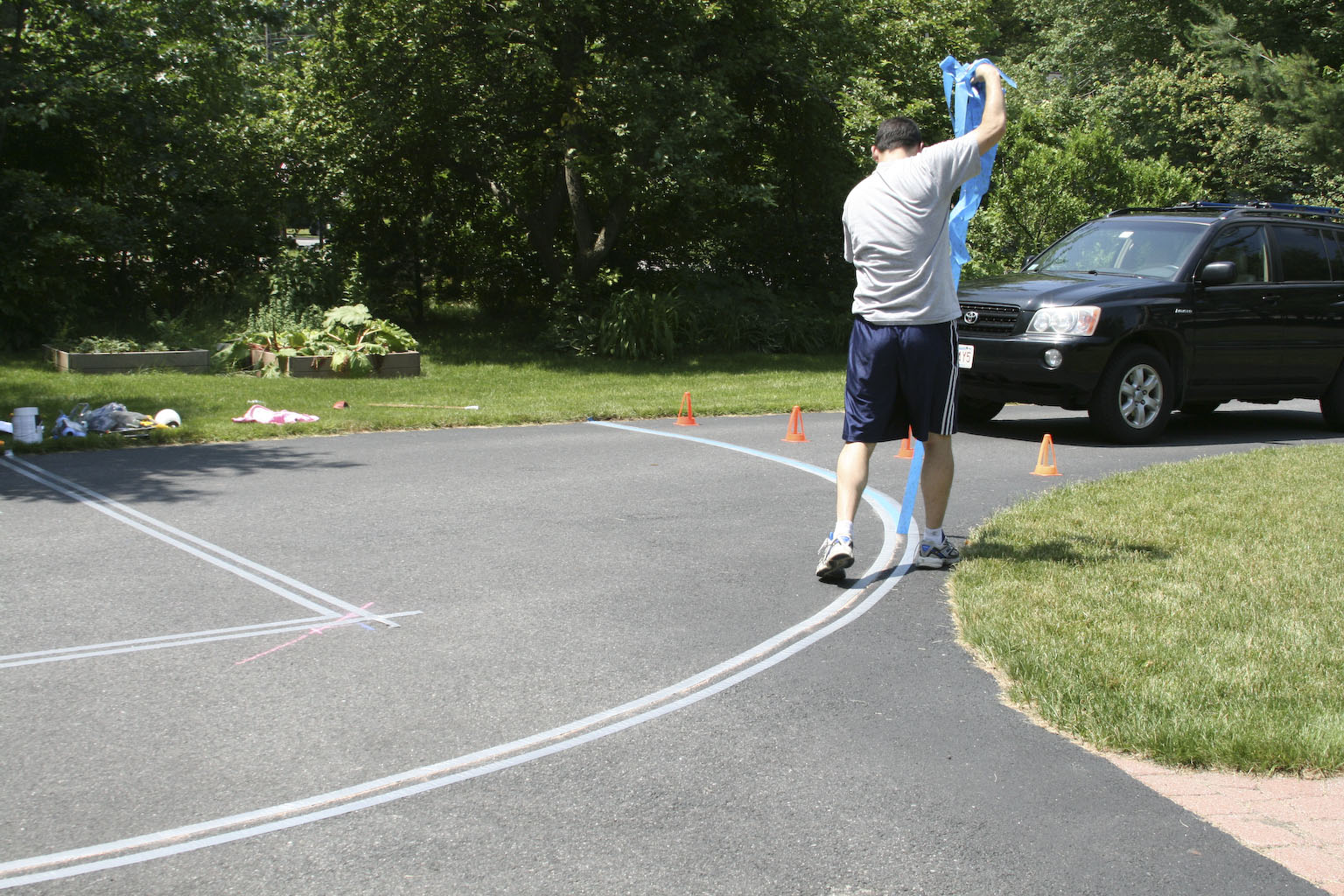 The Dancy Diaries How To Paint A Basketball Court At Someone