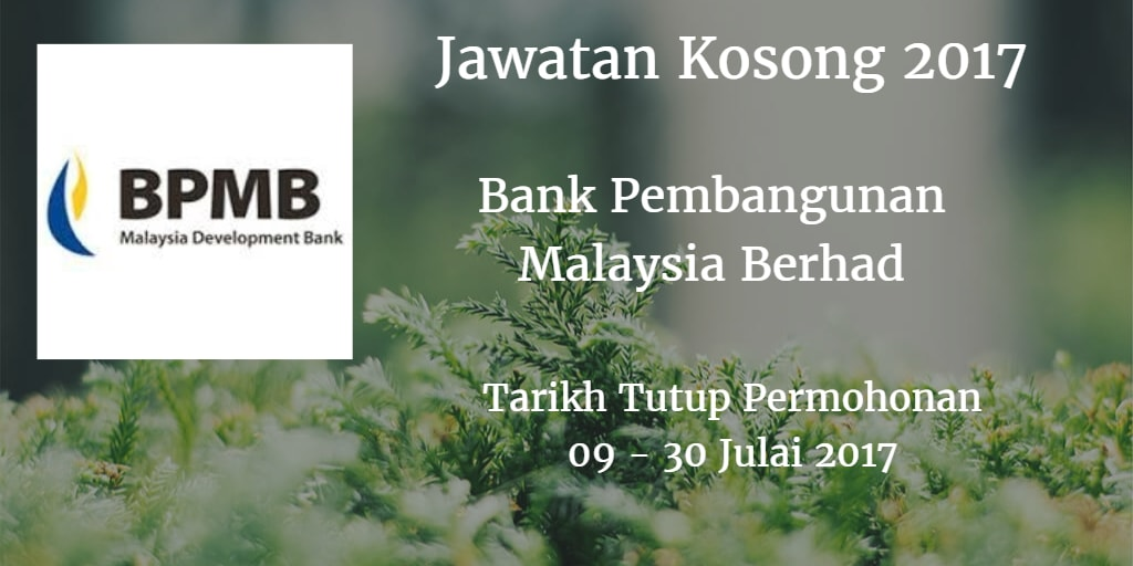 Jawatan Kosong BPMB 09 - 30 Julai 2017