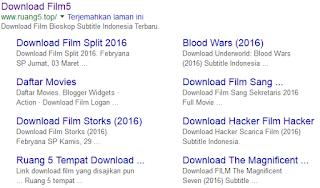 Mengembalikan Sitelink Blog yang Hilang