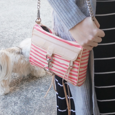 Rebecca Minkoff striped mini MAC bag with stripe maxi skirt | AwayFromTheBlue