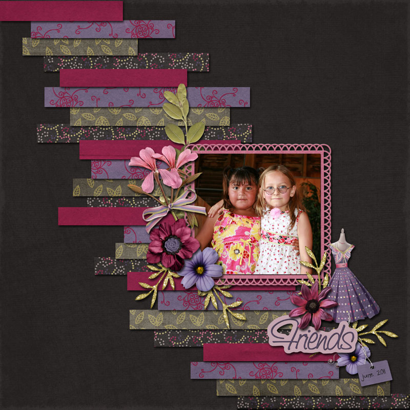 Designerscraps Ͽ��������� Ͽ������� Ͽ��������: Ideas For Scrapbookers: Create A Background From Strips Of